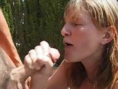 Horny, naughty MILF Brandy gets two dicks and gets fucked hard