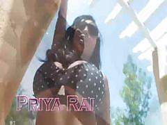 Busty Priya Rai sucks on a hard dick and fucks it as well