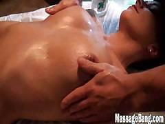 Beautiful Body Gets A Hot Oil Massage
