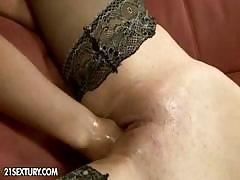 Bijou has fun with friend and gets a fist in her wet pussy