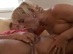 Kinky blonde MILF from Europe works hard to get that cock off