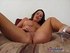Good looking babe with nice tits is getting butt blasted by cock