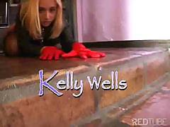 Rough anal fucking for submissive blond whore Kelly Wells