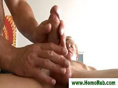 Gay masseuse gives bj to straight guy