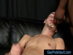 White dude getting his face jizzed by black thug by gaypridevault.com