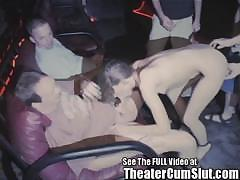 Teen Girl Gets Ass Full Of Cum in a Dirty Porn Theater