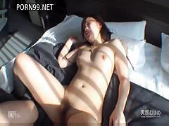 Flat-chested Japanese cutie wants some more banging before going to work