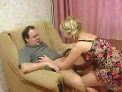 Cruel dad and obedient daughter perform all sorts of nasty things