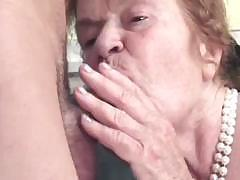 Very old lady turns out to be experienced cock-sucking slut