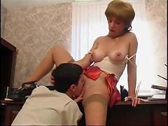 Mom Wants To Seduce Her Son At His Office