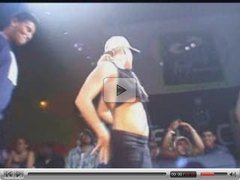 crazy blonde in public show all