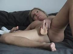 Busty middle-aged Mary Ann can`t get enough of this blowtorch