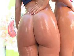 Wet Asses Of Two Sexy Girls