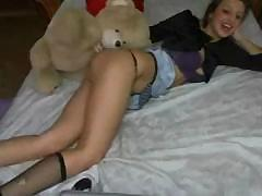 Wonderful anal entertainment from hot amazing girl in thongs