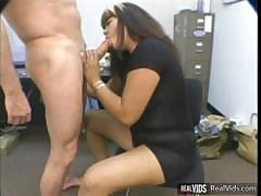 Nice long blowjob and hardcore banging after a hard working day