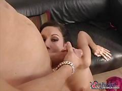 Only now cock-sucking bitch realized how many massive cocks she had missed