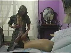 Curvy vintage red-head slut spends her time with young and inexperienced cutie