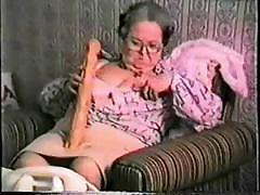 Unconventional striptease from very old but still fired up granny