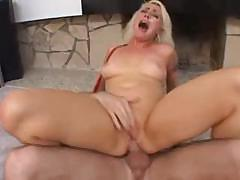 Blond hoochie gets a really rough slapping and fucking here