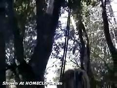 Exhibitionist Lexo is tied up in the woods and fucked in the ass with fingers and butt plugs.