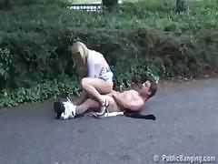 Love this Hottie here she is getting fucked at a parking lot