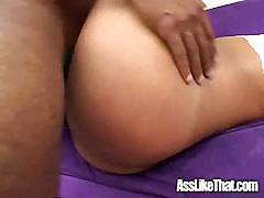Big booty Black girl gets fucked by black dude.