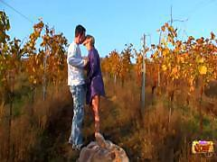 Nice Couple Is Really Close To The Nature