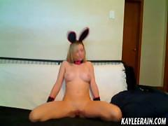 Teen Kaylee Rain models nude in cute bunny ears