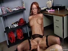 Hardcore Sex With Hot Redhead In Stockings