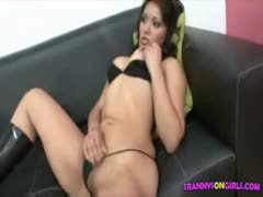 Asian lover for blond tgirl
