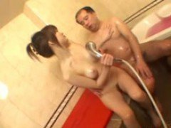 Asian Girl Sucking Guy Cock In The Bath Tube Cum To Mouth Sp...