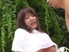 Cute Japanese Outdoor Fuck