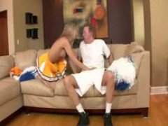 Topless Cheerleader Natalia Rossi Gives BJ