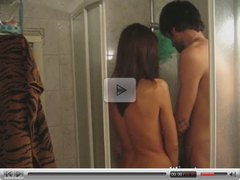 Taking a shower with a sexy teen girl