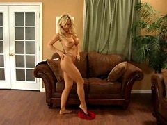 Amber big tits undressed in pantyhose with high heels will shock you again (The NylonChannel)