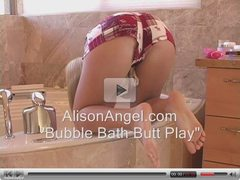 ass touching in a bubble bath
