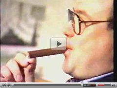 Cigar smoking landlord cums for the owed rent