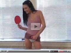 Ping pong to speculum and she's hot
