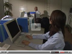very hot japanese secretary Rina Himekawa hardcore