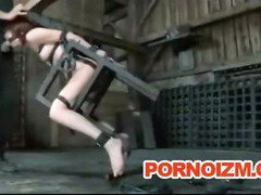 Pet Slave Bizarre BDSM Perverts Training Torment Cane and Outdoor