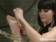 Lesbian BDSM Hard Corporal Punished Chained Anal Hooked Slave