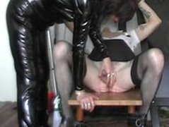 C.b.t And Milking bdsm bondage slave femdom domination
