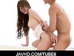 Busty Asian teeb Anri fondled and banged hard from behind