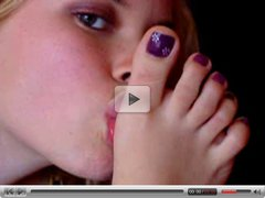 Sexy Self Toes Sucking 2