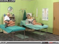 Two sexy blondes get session of hard fuck instead of session
