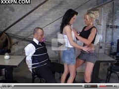 Lovely lesbian sluts satisfy each other.