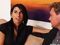 Hot Brunette MILF Is Picked Up By Sugar Daddy For Hot Sex and