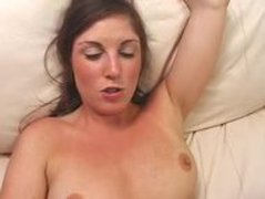 Sexy Brunette Babe Gets Huge Black Cock In Her Pussy