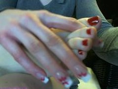 MILF Footjob At Home On Webcam