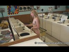 Chloe Collens goes Nude in Public at a the Laundromat